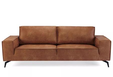 Feel Furniture Weston fauteuil of bank | Luxe design met comfortabel zitvlak 3-zits cognac