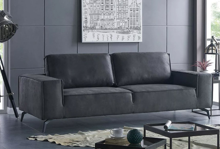 Feel Furniture Weston fauteuil of bank | Luxe design met comfortabel zitvlak 3-zits donkergrijs