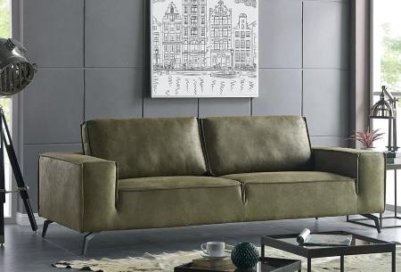 Feel Furniture Weston fauteuil of bank | Luxe design met comfortabel zitvlak 3-zits groen