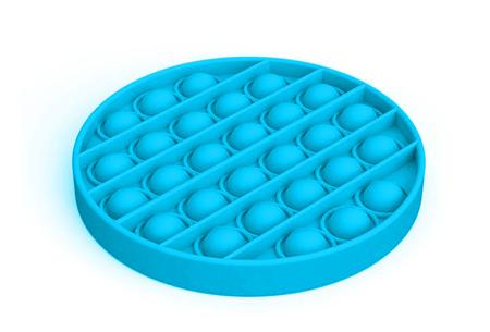Pop It Fidget toys | Dé hype van dit moment - In diverse kleuren en vormen Rond - blauw