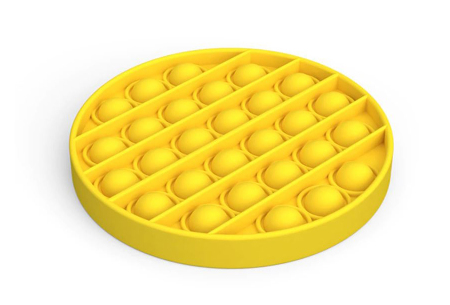 Pop It Fidget toys | Dé hype van dit moment - In diverse kleuren en vormen Rond - geel