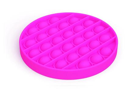 Pop It Fidget toys | Dé hype van dit moment - In diverse kleuren en vormen Rond - roze