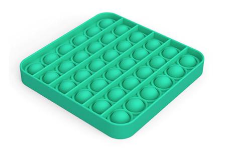 Pop It Fidget toys | Dé hype van dit moment - In diverse kleuren en vormen Vierkant - Mint