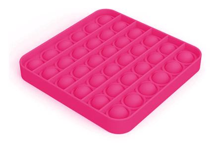 Pop It Fidget toys | Dé hype van dit moment - In diverse kleuren en vormen Vierkant - roze