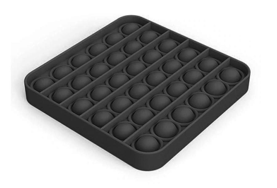 Pop It - Fidget toy Vierkant - Zwart