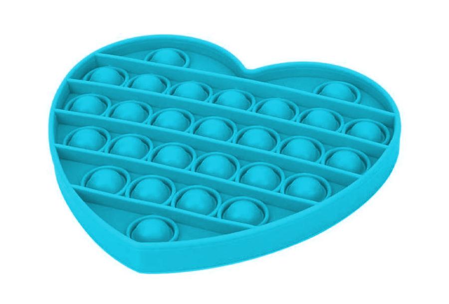Pop It - Fidget toy Hart - Blauw
