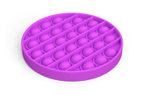 Pop It Fidget toys | Dé hype van dit moment - In diverse kleuren en vormen Rond - paars