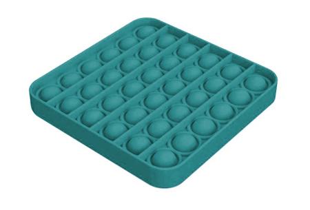Pop It Fidget toys | Dé hype van dit moment - In diverse kleuren en vormen Vierkant - turquoise