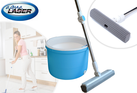 Aqua Laser Rotator mop | Krijg je vloer moeiteloos blinkend schoon!