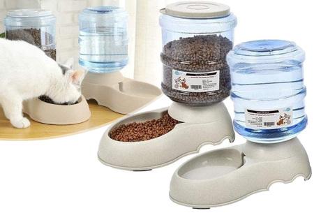 Automatische drink- en voerbak | Set van 2 dispensers voor je hond of kat