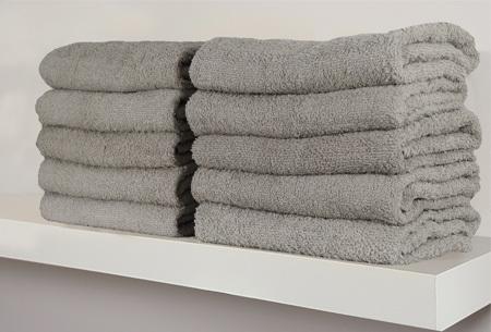 Handdoeken en badhanddoeken 100% katoen | Diverse sets met oplopende korting! Lichtgrijs