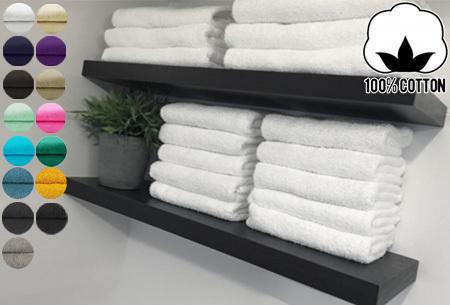 Handdoeken en badhanddoeken 100% katoen | Diverse sets met oplopende korting!