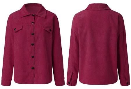 Corduroy blouse voor dames | Trendy overhemd van ribstof