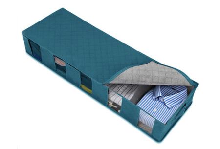 XL kleding opbergbox   Geschikt voor kleding, dekens en dekbedden - In 2 kleuren  Blauw