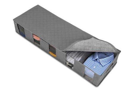 XL kleding opbergbox   Geschikt voor kleding, dekens en dekbedden - In 2 kleuren  Grijs