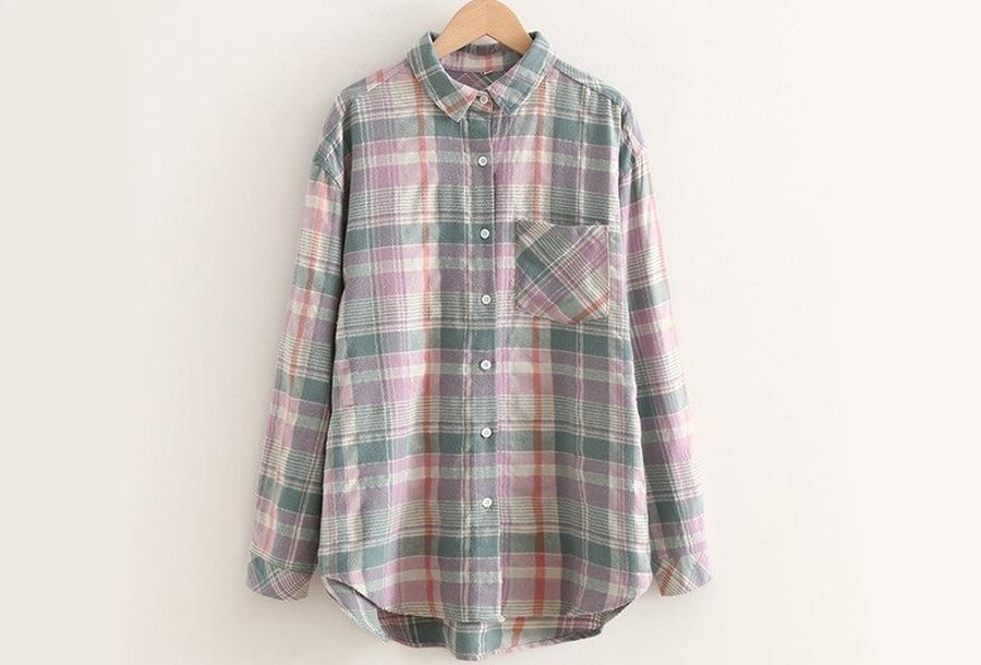 Lumberjack blouse Maat XL - Groen