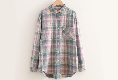 Lumberjack blouse voor dames | Geruit overhemd in 10 kleuren Groen