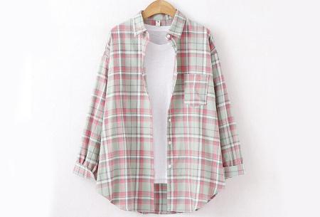 Lumberjack blouse voor dames | Geruit overhemd in 10 kleuren Lichtgroen