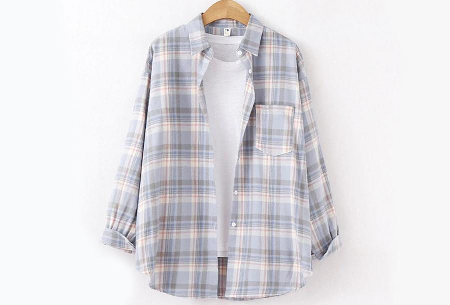 Lumberjack blouse Maat S - Lila