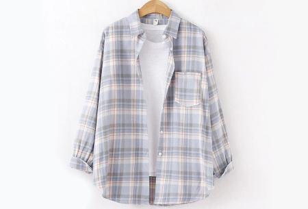 Lumberjack blouse voor dames | Geruit overhemd in 10 kleuren Lila