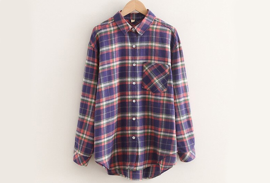 Lumberjack blouse Maat M - Paars