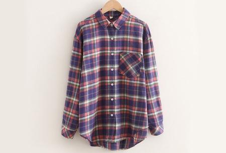 Lumberjack blouse voor dames | Geruit overhemd in 10 kleuren Paars