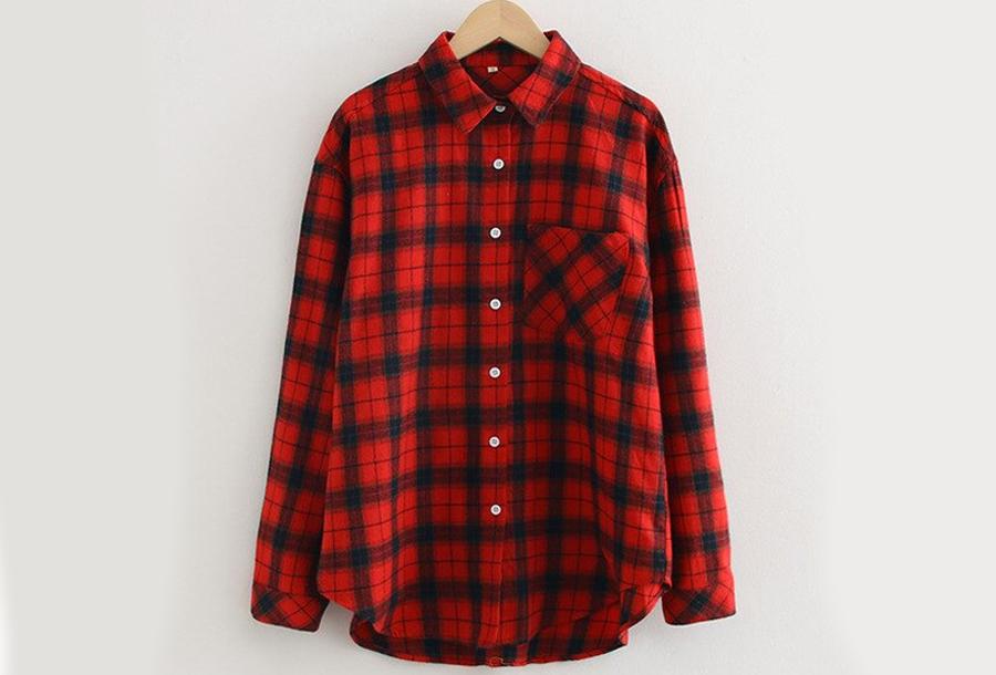 Lumberjack blouse Maat XL - Rood