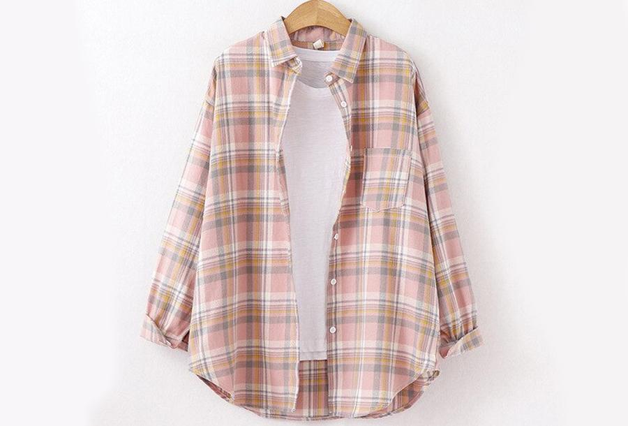 Lumberjack blouse Maat XL - Roze