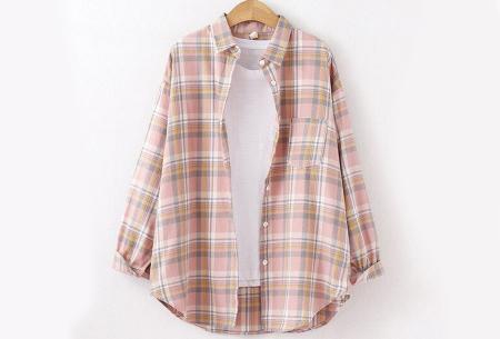 Lumberjack blouse voor dames | Geruit overhemd in 10 kleuren Roze