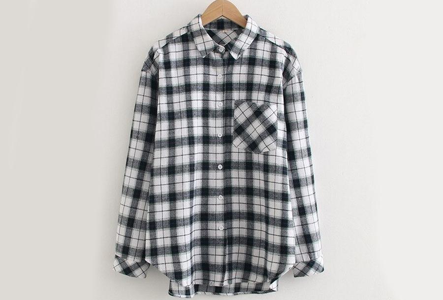 Lumberjack blouse Maat L - Zwart
