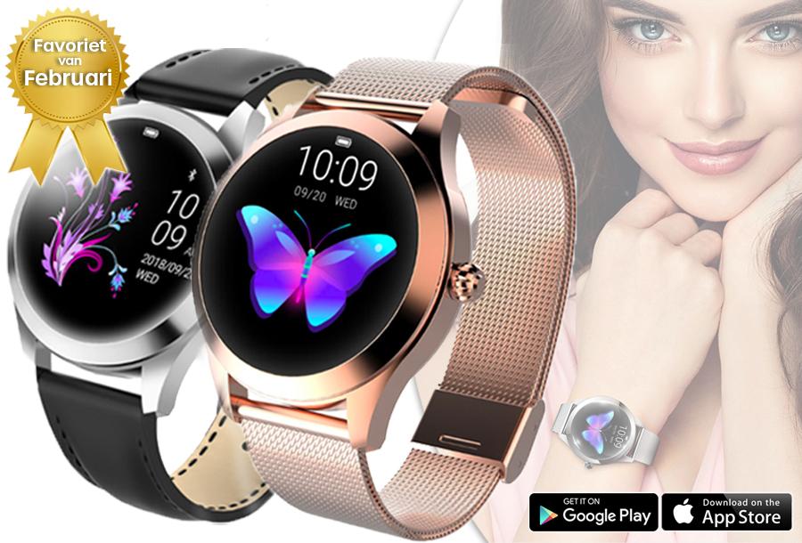 Luxe smartwatch voor vrouwen in de aanbieding