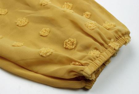 Dots blouse | Sjieke dames blouse met bohemian bolletjespatroon