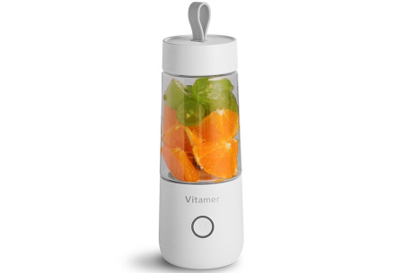 Blender To Go | Draadloze smoothie maker - in 2 varianten Bottle - Wit