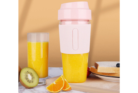 Blender To Go | Draadloze smoothie maker - in 2 varianten Cup - Roze