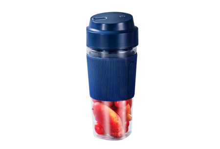 Blender To Go | Draadloze smoothie maker - in 2 varianten Cup - Blauw