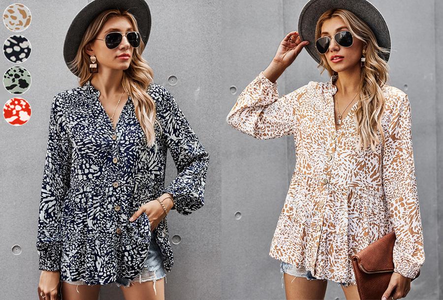 Pattern dames blouse nu met korting in de sale