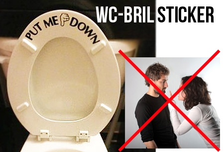 c75e581b910fe1 Twee  Put me down  wc-bril stickers t.w.v. €19