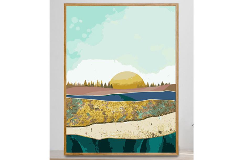 Landschappen schilderen op nummer #8 Vlakte