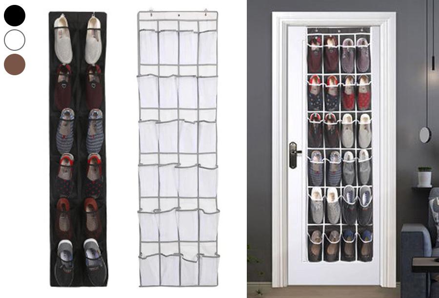 Hangende schoenenopberger voor 12 of 24 schoenen