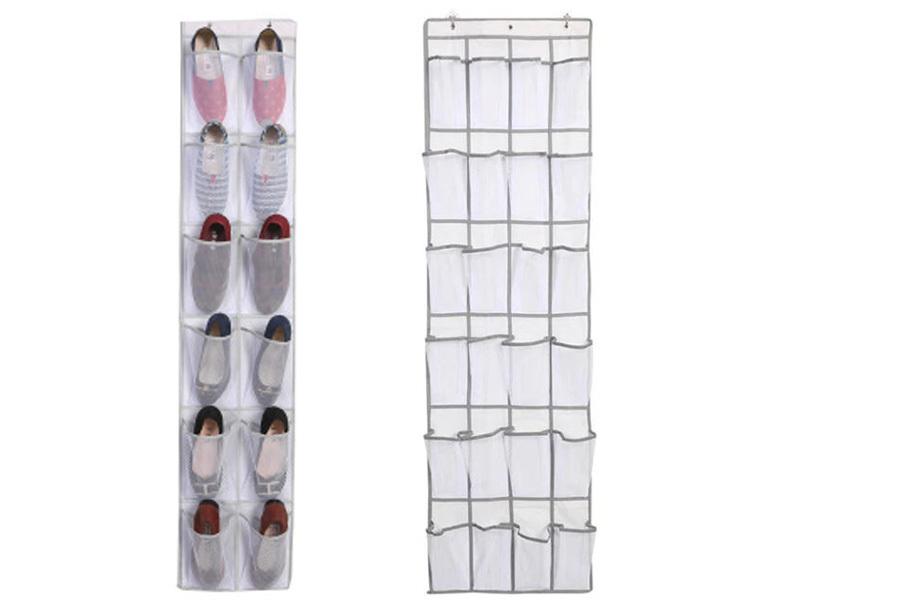 Hangende schoenenopberger Wit - Voor 24 paar schoenen