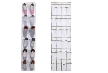 Hangende schoenenopberger | Handig schoenen opbergsysteem voor aan de deur, kast of muur Wit