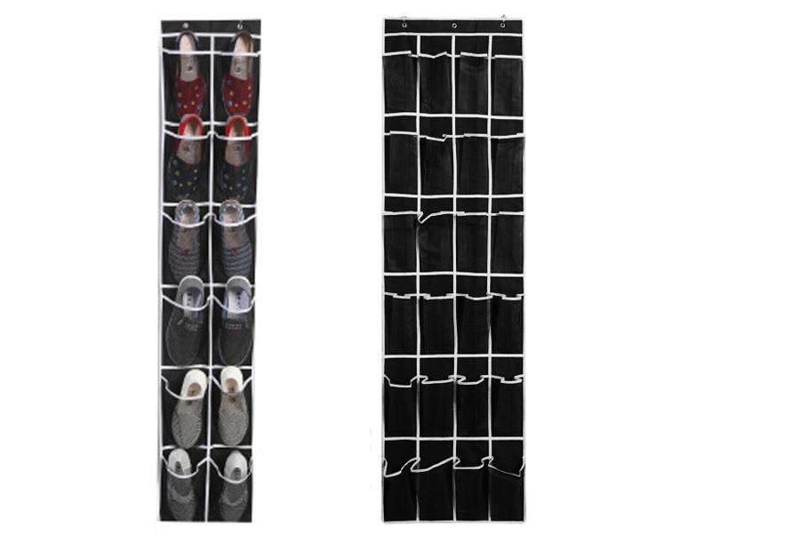 Hangende schoenenopberger Zwart/wit - Voor 24 paar schoenen