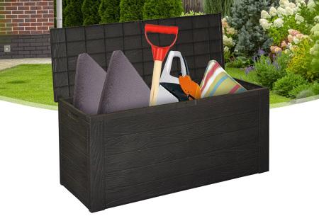 Houtlook kussenbox | Grote en waterdichte tuinkist voor buiten