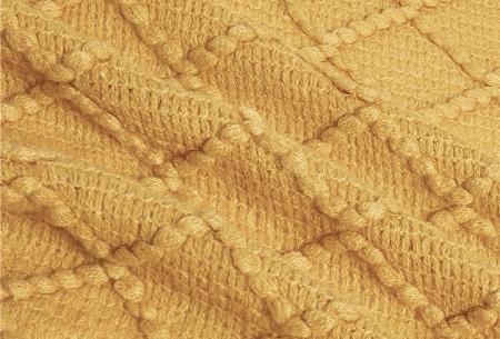 Trendy plaid | Deken met franjes en gehaakt detail - In 9 kleuren en 2 maten