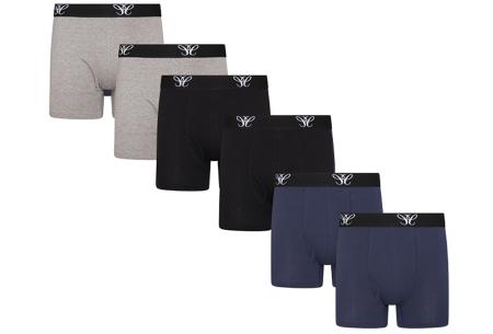 Multipack heren boxershorts   6-pack katoenen boxers  Mix
