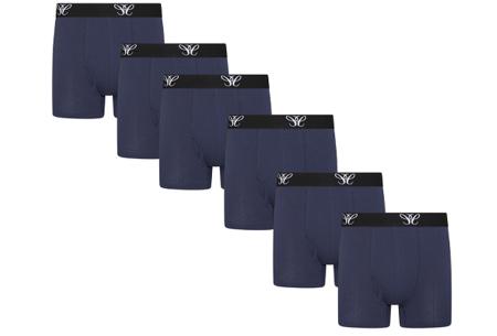 Multipack heren boxershorts   6-pack katoenen boxers  Navy