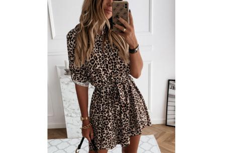 Classy blousejurk | Hippe jurk voor dames in 4 prints Panterprint