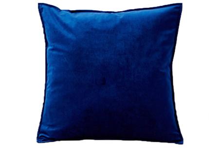 Set van 2 velvet kussenhoezen   Heerlijk zachte kussenslopen - In 13 kleuren Donkerblauw