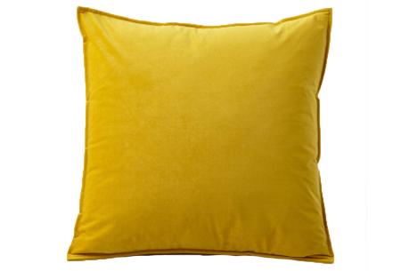 Set van 2 velvet kussenhoezen   Heerlijk zachte kussenslopen - In 13 kleuren Geel