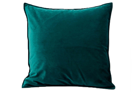 Set van 2 velvet kussenhoezen   Heerlijk zachte kussenslopen - In 13 kleuren Groen